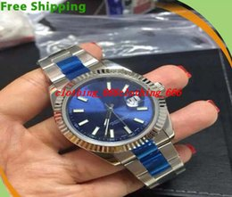 Wholesale Watch Dials Seller - Factory Seller HOT Luxury Mens Top Quality Stainless White Gold 41mm 116334 Blue Dial Watches