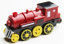 Wholesale Battery Trains - Magnetic electric train locomotive sound emitting battery operated fit for all wooden train track set toys for children