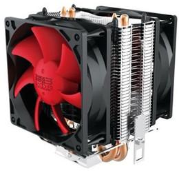 Wholesale Cpu Processors 775 - PCCOOLER 2pcs 8cm fans 2 heatpipes CPU cooler Redsea mini enhanced (HONGHAI mini ZENGQIANG) for multi-platform LGA115X 775 AM3 AM2 FM1 FM2
