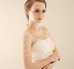 Wholesale Body Chain Jewerly - Luxury Bridal jewelry shoulder chain Korean Alloy wedding accessories wedding jewelry 085