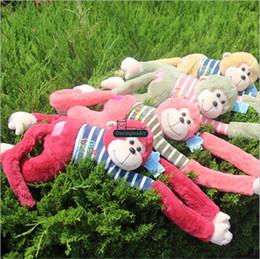 Wholesale 42 Dolls - Dorimytrader 42''   105cm Large Cute Monkey Doll Stuffed Soft Plush Giant Animal Monkey Toy 5 Colors Nice Baby Gift Free Shipping DY60919