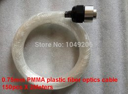 Wholesale Optic Driver - Wholesale-Free shipping 0.75mm PMMA plastic fiber optics cable 150pcs X 2Meters for all kind led light engine driver