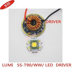 Wholesale Luminus Led - Wholesale-1PCS Luminus SST-90 30W LED Emitter 2250LM Warm White 3000K Module PCB 20mm Copper +SST-90 LED Driver Board