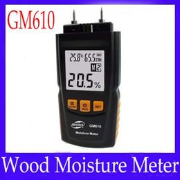 Wholesale Wood Timbers - Digital LCD Display Wood Moisture Meter Gauge Humidity Tester Timber Damp Detector Hygrometer GM610