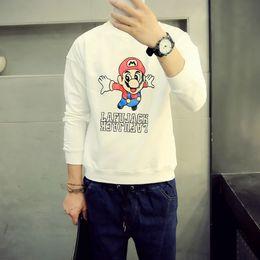 Wholesale Mario Sweater - Tide brand original Japanese Harajuku street style in Hong Kong Super Mario cartoon printed Korean Slim hedging sweater M