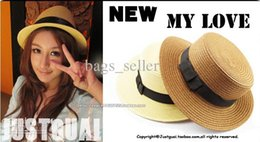 Wholesale Cheap Christmas Hats Wholesale - Cheap Straw Caps Hats For Women Summer Round Style Mix Color 10pcs Lot New Arrival Free Shipping 130909C13