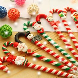 Nuevo bolígrafo para niños online-8 unids / lote decoración de navidad niños bolígrafos de regalo bolígrafo de dibujos animados regalos de vacaciones bolígrafo decoraciones de navidad año nuevo niños regalos