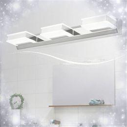 Wholesale Steel Led Bathroom - Bathroom Mirror Lighting Warm white White Wall Lamps LED Mirror Lamp Mirror-front Lighting Mirror Front Wall Lamps Acrylic Stainless Steel
