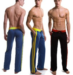 Wholesale Man Sleeping Pants - appared sleep bottoms men sexy yoga pants soft comfortable Relaxed nightgown mens pyjama Home trousers quick-drying terylene wsh67