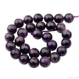 Wholesale Loose Beads For Sale - Hot Sales Natural Real Amethyst Beads 14MM loose stone jewerly beads for diy fashion women jewellery free shipping