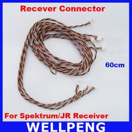 Wholesale Spektrum Receivers - 10pcs lot Satellite Connector 60cm length For Spektrum Receiver and JR Receiver