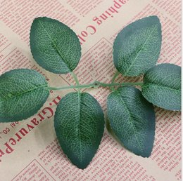 Wholesale Green Leaves For Crafts - Artidicial Cloth Maple Leaves Multicolor Fake green rose Leaf For Art Scrapbooking Wedding Party Decor Craft