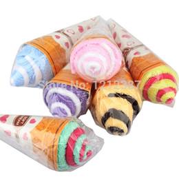 Portátil de color doble linda lavado suave de la toalla del helado del favor de regalo en forma de H BS88 desde fabricantes