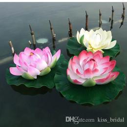 2020 ornamento do jardim de flor de lótus Decorações de casamento de 60 cm de diâmetro Artificial Lotus flor de seda falso para enfeite de natal Fish Tank jardim piscina de água decoração desconto ornamento do jardim de flor de lótus