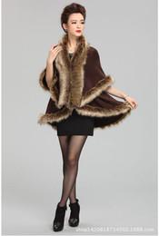 Wholesale Vest Fake Fur - Wholesale-2015 New Winter Faux Fake Fur Vests for women raccoon fur collar overcoat capes Fashion Warm Plus Size Vest Jacket Coat shawls