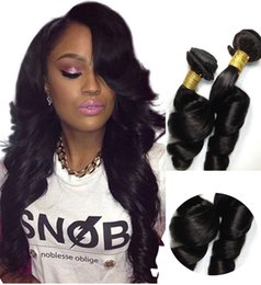 Wholesale Virgin Hair Wholesalers Usa - Virgin Human Hair Extensions UK USA 6A Unprocessed Peruvian India Brazilian Hair Loose Wave Cheap Weave for Lady High Quality 3PCS