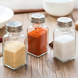 Wholesale Condiment Bottles Wholesale - Salt Spice Jar Spices Storage Glass Bottles Box Seasoning Cans Kitchen Condiment Bottles Pepper Shakers OOA3549