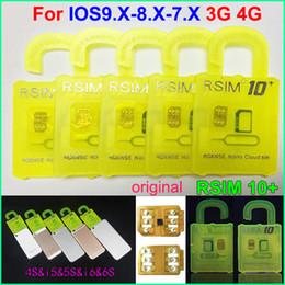 Wholesale Wholesale Cdma Mobiles - Original RSIM 10+ rsim 10 + R-sim 10+ thin unlock card for ios9.X IOS8 IOS7 iphone 6s 6 5s 5 4s AT&T T-mobile Sprint WCDMA GSM CDMA 3G 4G