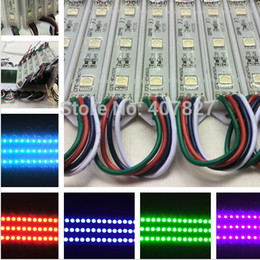 Wholesale Led Color Change Module - LED RGB color changing module for channel letter or LED sign 3 LED RGB SMD 5050 waterproof 100pcs lot free shipping