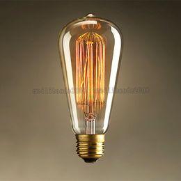Wholesale Halogen Wall - Retro globe Edison Halogen Bulb ST64 40W 110V 240V wall lamp ceiling lights Bulb LLWA034