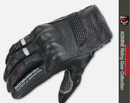 Wholesale Knight Rider Motorcycle - KOMINE GK-141 SAFETY INNOVATION Riding Gear Collection breathable leather motorbike gloves Spring Summer Knight Rider motorcycle gloves