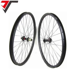 Wholesale Mountain Bike Tubeless - TRIPS mtb carbon wheels 29er Boost 35mm width hookless mountain bike wheels tubeless boost bike wheels 32H carbon 29er wheelset