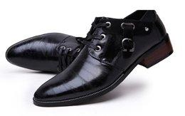 Wholesale Charming Black Men Dress Shoes - 2015 NEW Arrival Men's Fashion charming PU leather shoes wedding dress shoes for men S75