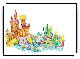 Wholesale Fairy Stories - Wholesale-Extra Large 3D Super Puzzle of Daughter of the Sea Fairy Story For Kid's Birthday Gift Creative DIY Handmade Toy(QY-016)