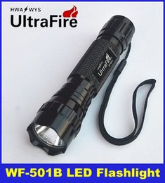 Wholesale Led Free Delivery - 2015 High Quality Ultrafire WF-501B CREE T6 LED Flashlight Torch 1000lumens 5-Mode 18650 Camping Hiking Portable outdoor & DHL Free Delivery