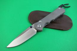 Cuchillo plegable 62hrc online-Calidad de Chris Reeve 25 Aniversario Elegante diseño clásico Sebenza supervivencia cuchillo D2 acero 62HRC CR Cuchillos coleccionables