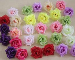 Wholesale Pink Roses Silk Bridal Bouquets - Silk Rose Flower Heads 100pcs Fake Flowers Camellia Peony Dia 7-8cm DIY Bridal Bouquet Wedding Centerpieces Artificial Decorative Flowers