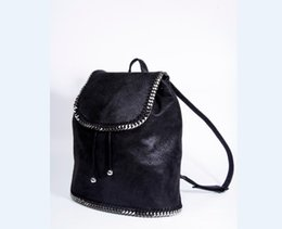 Wholesale Backpack Pictures - Real picture 2018 chain backpack European and American casual and simple style fashion bag high quality 100% real picture
