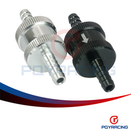 "Wholesale Fuel Controls - PQY STORE-1 4"" 6mm Non Return One Way Fuel Check Valve Aluminum Alloy Petrol Diesel PQY-FCV06"