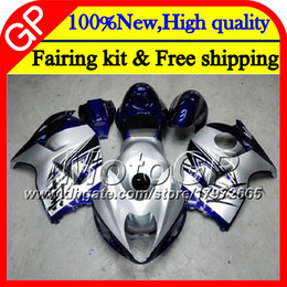 Wholesale Hayabusa Red - Body For SUZUKI Hayabusa GSXR1300 96 07 1996 1997 1998 41GP33 GSXR 1300 GSXR-1300 Blue silver GSX R1300 1999 2000 2001 Motorcycle Fairing