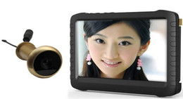 Wholesale Door Peephole Camera Motion - 5.8G Wireless Door Peephole Camera with DVR,100m Range 90 Degree VOA ;5-inch Screen,Motion Detect Recording, VD-TE850H