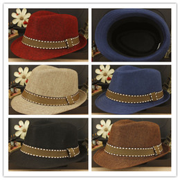 Wholesale Children Floppy Sun Hats - High Quality Floppy hat for children Cotton Polyester Stingy Brim Hats British fashion Solid jazz hat DHL free shipping