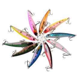 Wholesale Sea Bass Fishing Lures - 10PCS Fishing Bait Sea Fish Lures Set Laser Lures Fishing Set Kits for Bass Minnow CrankBaits with Spangle Triple Hook 11cm order<$18no trac