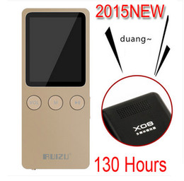 Wholesale Reading Ring - New RUIZU X08 sports high quality lossless MP3 recorder outer ring MP3 player 8GB ACELP ACC-LC WAV FLAC APE OGG WMA MP3 music free shipping