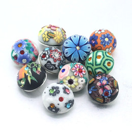 Wholesale Bracelet Directions - 10pcs  lot Colorful Flower 18mm Plasic snap button Wrist watches for women sterling jewelry charm bracelet one direction 061118