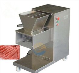 Wholesale Processing Machinery - Wholesale - Free shipping 750w 110 220 380v vertical type QW meat cutting machine,meat slicer,meat cutter,800kg hr meat processing machinery