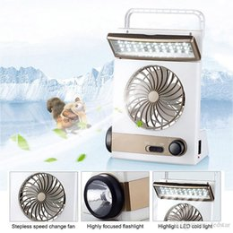 Wholesale Fan Tables - Portable Fan 3 in 1 Multi-function Mini Fan LED Table Lamp Flashlight Solar Light for Home Camping Solar Fan for Outdoor