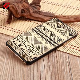 Wholesale Unique Clip Cover - Unique Wave Strip 10 Pattern Wood Case for iPhone 7 8 Hard Mobile Clip Cell Phone Cover Bulk Wooden Coque for Smart Phone
