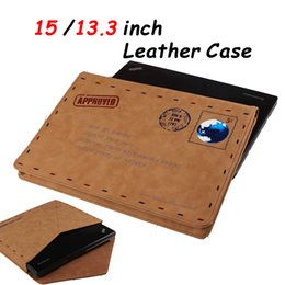 Wholesale Ship Macbook Pro China - Macbook Pro 13 15 PU Leather Case Retro Envelope Cases 13.3 inch Tablet PC Sleeve Brown Fashion Bag Protective Cover for Laptops DHL Ship