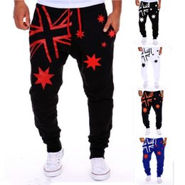 Wholesale Men Print Harem Pants - Jogger Pants Outdoors Joggers Men 2015 New Fashion Letter Print Harem jogging Pants Sweat Pants Men Trousers Sports wear