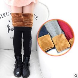 Wholesale Red Leggings 3t - Girls Boots Leggings High Elastic Waist Winter Plus Velvet Thicken Mother and Daughter Matching Leggings Warm Pants Cashmere Trousers Female