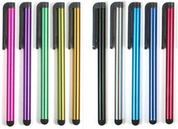 Wholesale Universal Stylus Pen For Iphone - .Stylus Pen Capacitive Screen Highly sensitive Touch Pen For Iphone6 6Plus Iphone5 4 SamsungGalaxyS5 S4 Note4 Note3 Free Shipping 100pcs