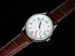Wholesale Genuine Leather Automatic Men Watch - Luxury Swiss Men Automatic Movements Mechanical Stainless Watches Date Mens Fashion Wristwatch Brown Genuine Leather Watch Strap Gift Box
