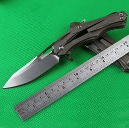 Wholesale Hiking Kits - Transformers Titanium Alloy Tactical knife survival kit D2 58-61HRC (cryogenic treatment) TC4 Titanium hunting knife 1pcs freeshipping