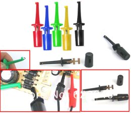 Wholesale Multimeter Probes Hook - Free Shipping 100 pcs Wholesale mini SMD IC Single Hook Clip Grabbers Test Probe cable for multimeter wire lead order<$18no track