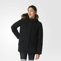 Wholesale Womens Long Goose Down Coats - Winter best-selling women France brand Outdoor white Duck Down Jacket coats Womens Warm Slim Large Fur Collar down coat jackets Parkas
